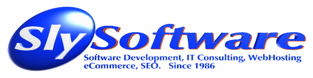 SlySoftware :: Software Development + IT Consulting + WebHosting + eCommerce + SEO, since 1986